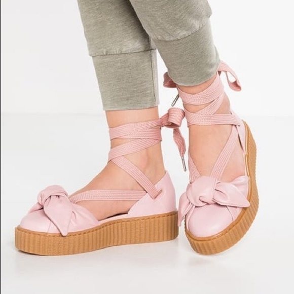 new product 8bb44 a823d 🆕️Fenty Puma Creeper Ankle Tie plat Flat forms